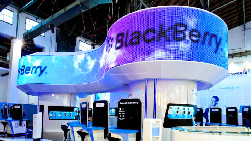 Exhibition Stand Production : Blackberry exhibition stands the light surgeons